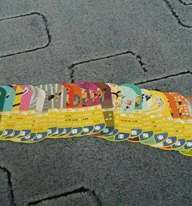 Карточки Миньонов магнит