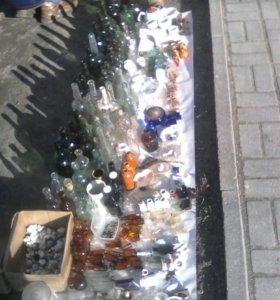Старинные бутылки, банки, пузырьки