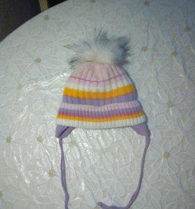 Зимняя шапка на 1-2 года