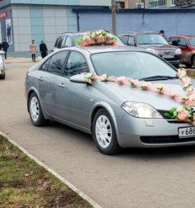 Свадебные украшения на 2 машины