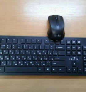 Клавиатура и мышь Oklick ,безпроводные.