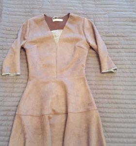 платье новое замша