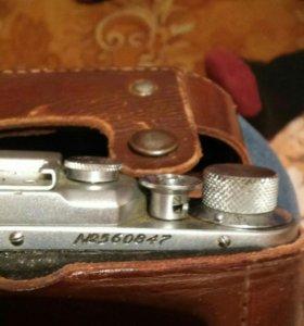 коллекционный фотоаппарат фед 2 в кожанном чехле