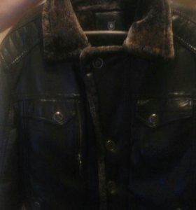 Зимняя мужская дубленка-куртка