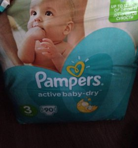 Памперсы Pampers active baby dry