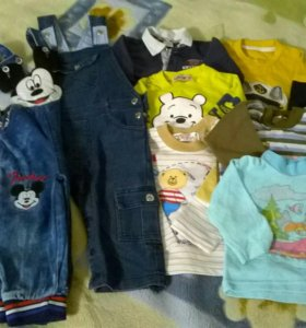Вещи пакетом на мальчика р-р 74-80