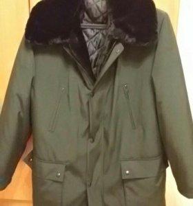 Куртка зимняя мужская, новая. Мутон, р.50-52
