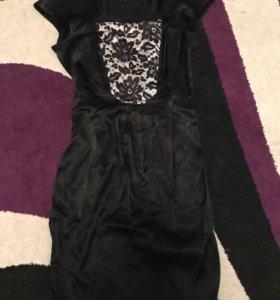 Платье из натуральной ткани с кружевом