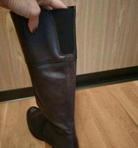 Сапоги демисезонные кожаные 38/39 размер