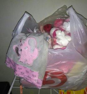 Вещи для малышки пакетом 50 вещей 3-9 мес.