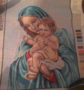 4шт Рисунок на ткани для вышивания