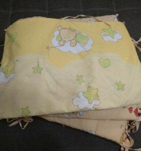 Бортики и кармашки для кроватки