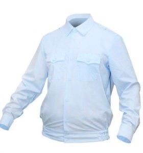 Рубашка Полиция, голубая длинный рукав на резинке