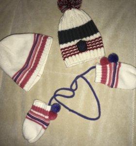 Шапочки и рукавички marmelatto и GJ
