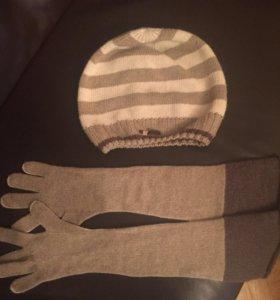 Шапка и перчатки Trussardi Jeans