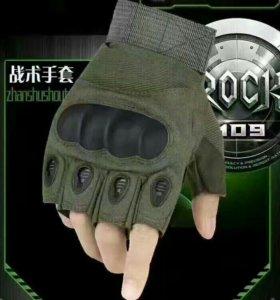Перчатки олива без пальцев