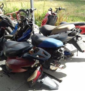 Рама скутера,амортизаторы