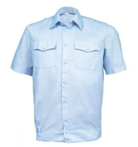Рубашка Полиция, голубая короткий рукав на резинке