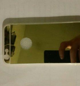 Зеркальный чехол на iPhone 6/6s