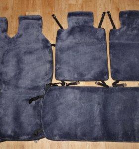 Комплект меховых чехлов - накидок (серые)