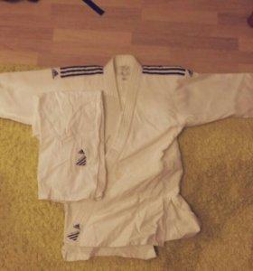 Кимоно для дзюдо Adidas 160 см оригинал без пояса