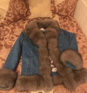 Джинсовая куртка с мехом новая