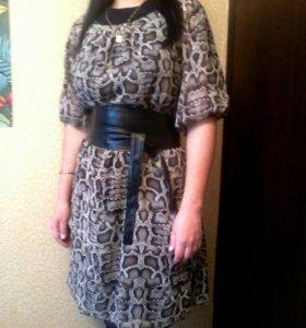 Платье  шифон 44-48р-р