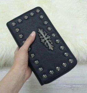 Клатч кошелек портмоне  мужской (две молнии )
