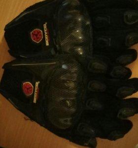 Перчатки для мотоцикла с защитой костяшек торг