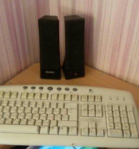 Колонки, клавиатура, мышка