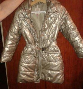 Куртка-пальто для девочки р.128