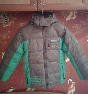 Куртка зимняя,для мальчика.Серо-зелёная.