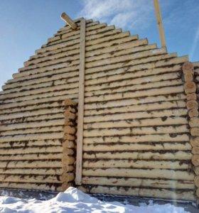 Срубы на заказ из зимнего леса Мордовии