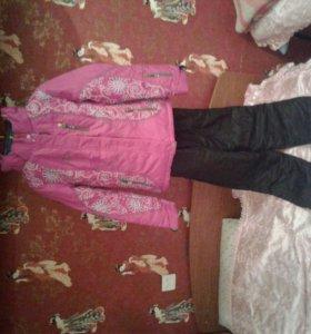 Зимний лыжный костюм для девочки.Розового цвета.