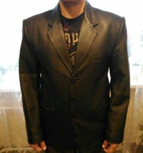 Кожаный пиджак 50 размер