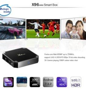 X96 mini Смарт ТВ приставка на Андроиде 7(Новая)