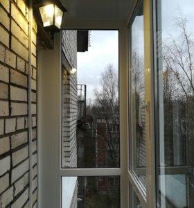 Обшивка балконов.