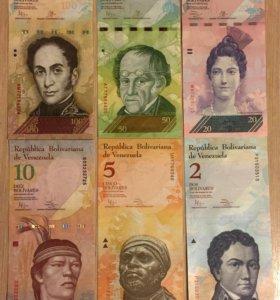 Набор банкнот Венесуэлы, 6 банкнот, UNC