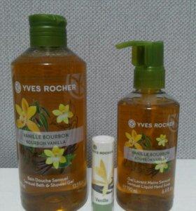 Гель для душа,жидкое мыло и бальзам Yves Rocher