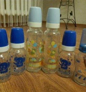 Бутылочки для кормления стеклянные