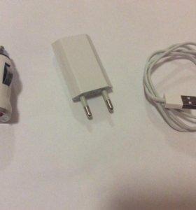 Зарядное устройство, кабель iPhone 5.