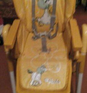 Стульчик для крмления jatem fabula, цвет желтый