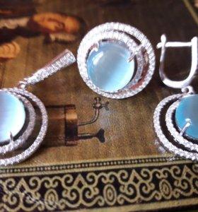Красивые наборы Серебро 925
