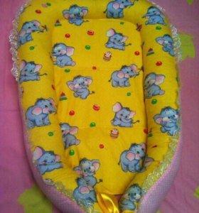 Продам новый кокон-гнездышко для новорожденного