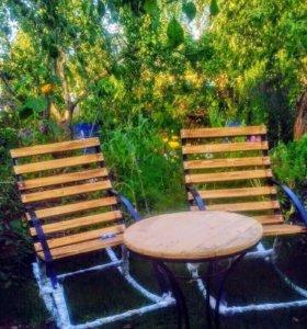 Кресла-качалки+ стол