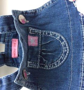 Новое джинсы для маленьких модниц с 3-6 мес