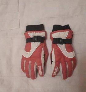 Перчатки зимние для девочки 7-9 лет