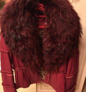 Куртка кожаная песец