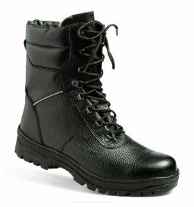 Ботинки кожаные «Альпы» меховые р.43