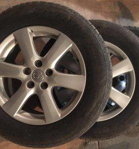 Колёса на родных дисках Toyota